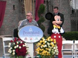 Jim Tressel and the Ohio State Buckeyes in Disneyland