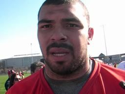 Ohio State senior Cameron Heyward after spring practice opener