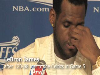 Cavaliers LeBron James talks about the 120-88 loss to Celtics in Game 5: NBA Playoffs
