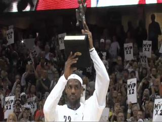 Cavalier LeBron James receives NBA 2009-2010 MVP Award