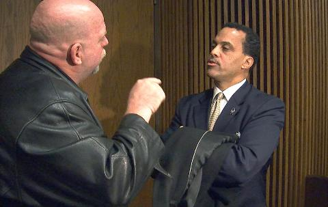 Apology to Cleveland cop sparks confrontation outside courtroom