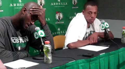 Kevin Garnett and Paul Pierce postgame press conference 11/24