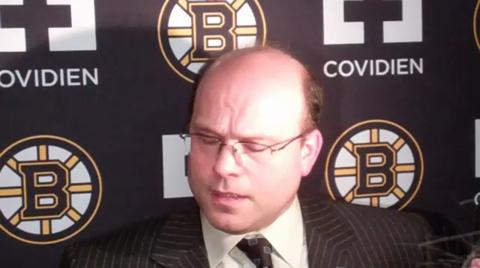 Bruins GM Peter Chiarelli discusses the Marco Sturm trade