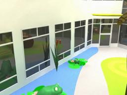 Animated tour of remodeled public areas at University Hospitals Rainbow Babies & Children's Hospital