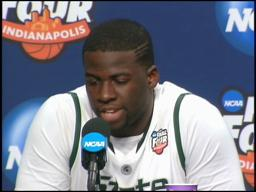 Spartans' Draymond Green: 'I just have to go up stronger'