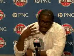 Joe Dumars discusses the Pistons need to get back to playing with grit and toughness