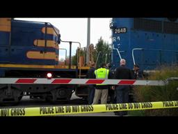 Woman hit by train in Grand Rapids
