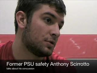 Former Penn Stater Anthony Scirrotto talks about concussions