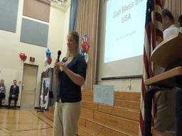 Surprise Sendoff for Teacher Deployed to Afghanistan