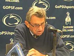 Penn State coach Joe Paterno on replacing injured QB Rob Bolden with Matt McGloin
