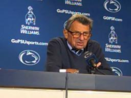 Penn State coach Joe Paterno on Evan Royster's record-breaking day vs. Michigan