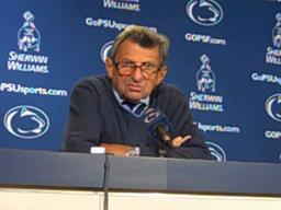 Penn State coach Joe Paterno on defending Michigan QB Denard Robinson