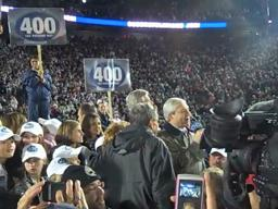 Penn State coach Joe Paterno's 400th win celebration