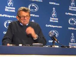 Penn State coach Joe Paterno on 400th career win: 'I've been very fortunate'