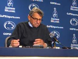 Penn State coach Joe Paterno on being carried off the field after 400th career win