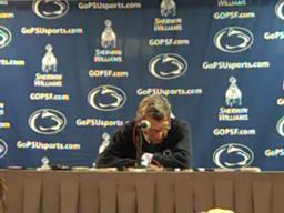 Penn State coach Joe Paterno on LB Mike Mauti's shoulder injury