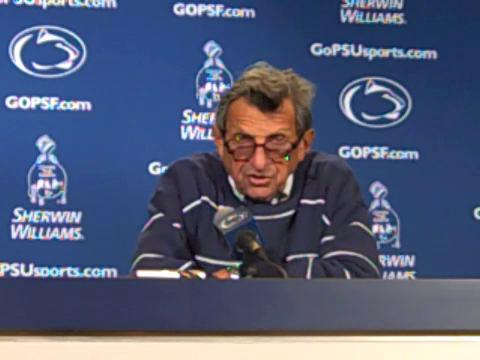 Penn State coach Joe Paterno on his senior class