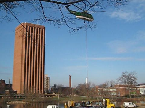Helicopter at UMass