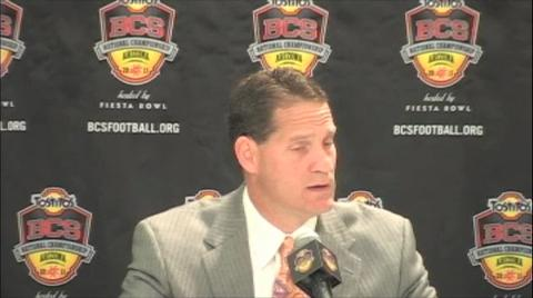 Gene Chizik on the eve of the BCS Championship Game
