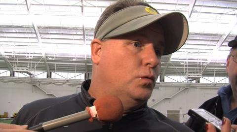 Oregon Ducks video: Chip Kelly after Monday's practice