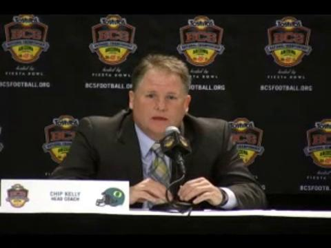 Chip Kelly's BCS title game press conference