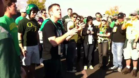 Oregon's own &quot;On the Rocks&quot; sings for tailgaters