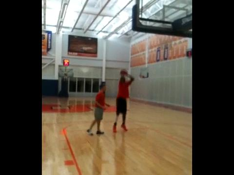Syracuse University freshman center Fab Melo at practice Thursday
