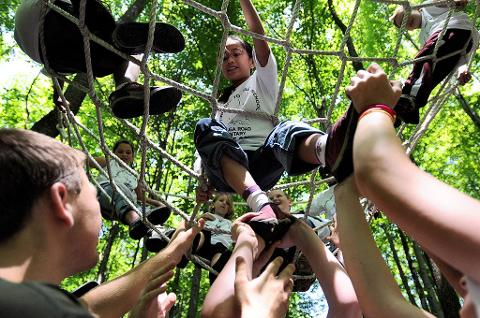 The ropes course at Adams Eden Camp, in Lafayette.