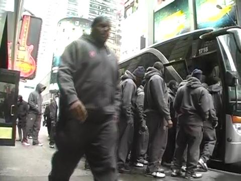 Syracuse football team leaves Hard Rock Cafe, New York City