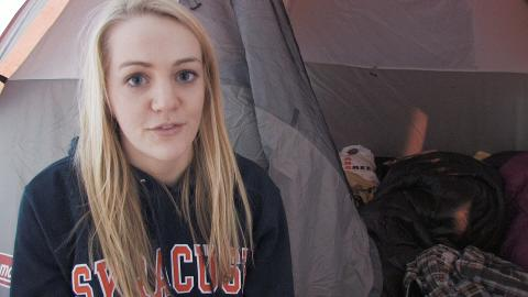 Syracuse vs. Villanova Basketball: SU Students Camped Out at the Dome