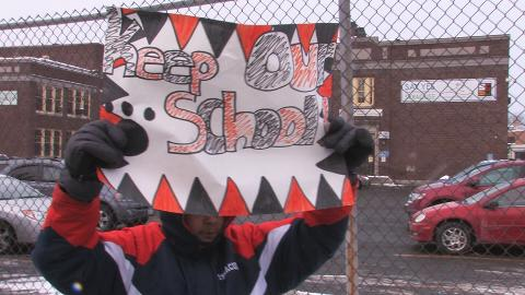 Elmwood School Closings Protest