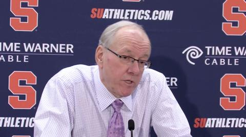 Syracuse vs. Villanova: Coach Boeheim