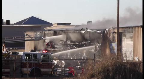 Raw video from warehouse fire in Kenner