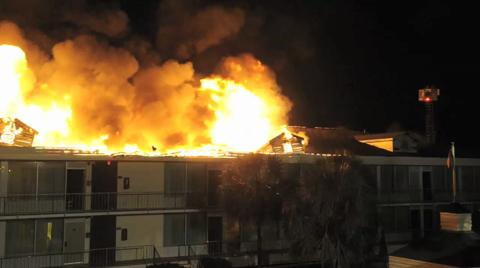 More footage from Best Western Causeway fire