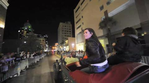 Danica Patrick leads the Greer's/Press-Register Mardi Gras parade