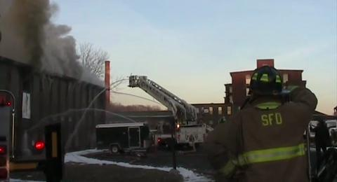 Springfield Fire Battles Two-Alarm Mill Fire
