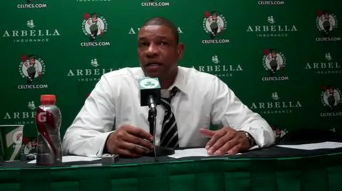 Doc Rivers addresses the media following loss to Hornets