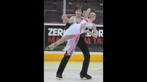 Gold medal ice dancers
