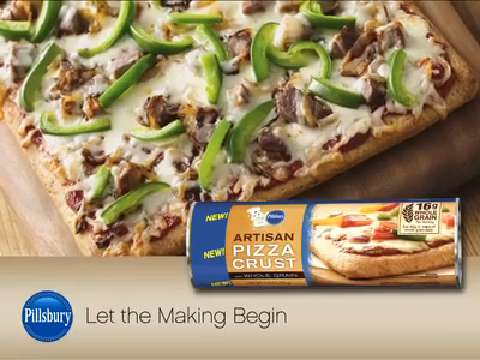 BBQ Chicken Pizza From Pillsbury Artisan Pizza Crust ...