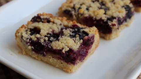 Blackberry-Almond Shortbread Squares Recipes — Dishmaps