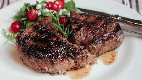 Grilled Lemon & Rosemary Lamb Chops