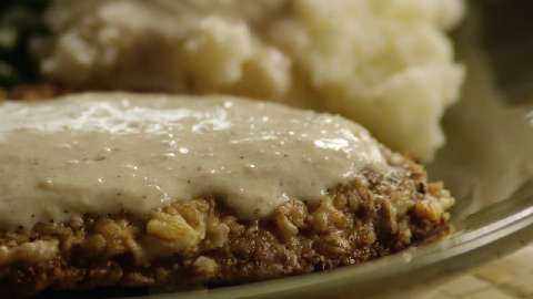 Country-Fried Steak With Mushroom Gravy Recipes — Dishmaps