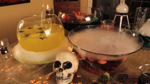 spooky halloween drinks - Halloween Party Punch Alcohol