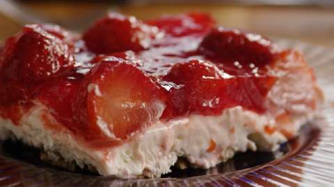 Judy's Strawberry Pretzel Salad Video - Allrecipes.com