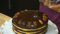 Chocolate-Caramel Turtle Torte