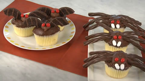 Bats and Spider Cupcakes