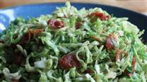 How to Make Brussels Sprouts with Bacon Dressing