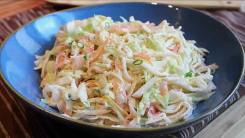 Pickled Ginger Asian Pear Coleslaw