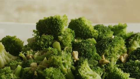 Broccoli with Garlic Butter and Cashews Video - Allrecipes.com