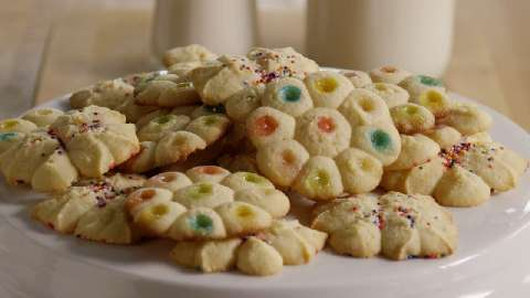 Recipe for pressed christmas cookies